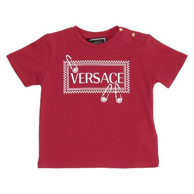 Red 90s vintage logo cotton jersey t-shirt