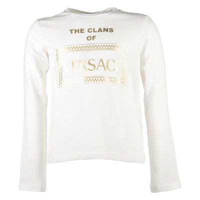 The Clans of Versace white logo detail cotton jersey t-shirt