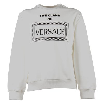 The Clans of Versace white cotton sweatshirt