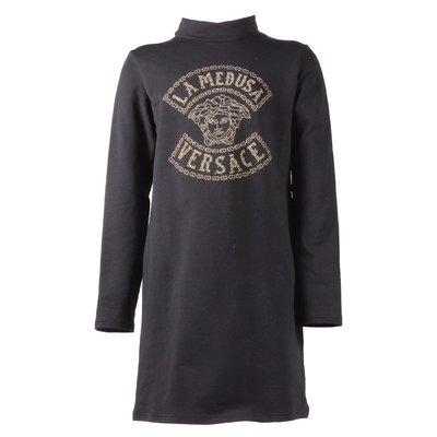 Black Medusa cotton jersey dress