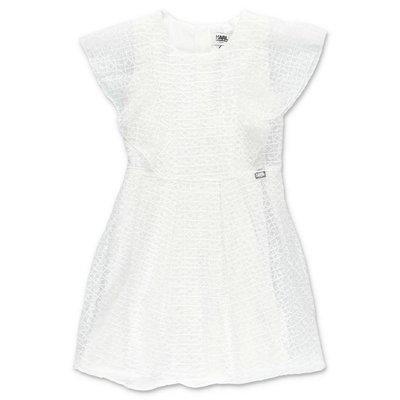 Karl Lagerfeld abito bianco in techno tessuto