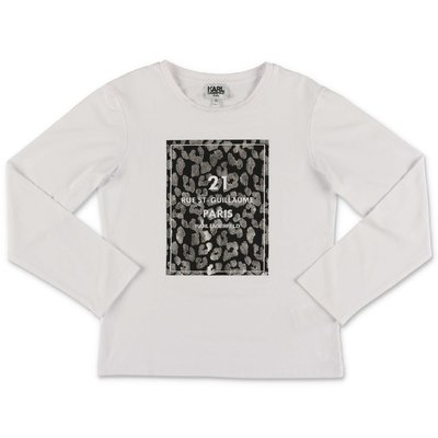 Karl Lagerfeld white cotton jersey t-shirt