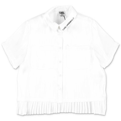 Karl Lagerfeld white techno blouse