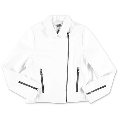 Karl Lagerfeld white faux leather jacket