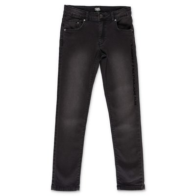 Karl Lagerfeld black stretch cotton denim vintage effect jeans