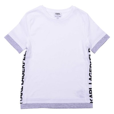 Logo white cotton jersey t-shirt