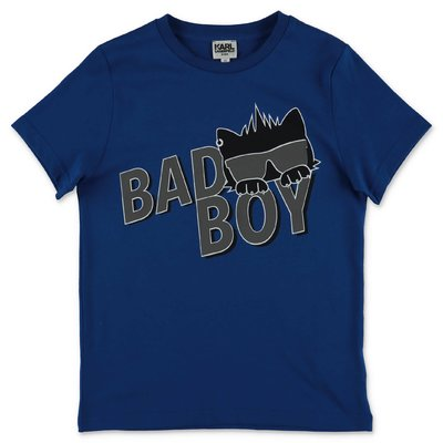 Karl Lagerfeld blue cotton jersey t-shirt