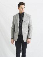 Muireann Hellgraue klassisch geschnittene Tweed Jacke