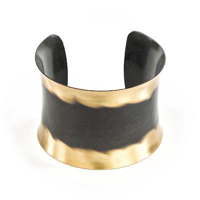 Messing Manschette - Gold