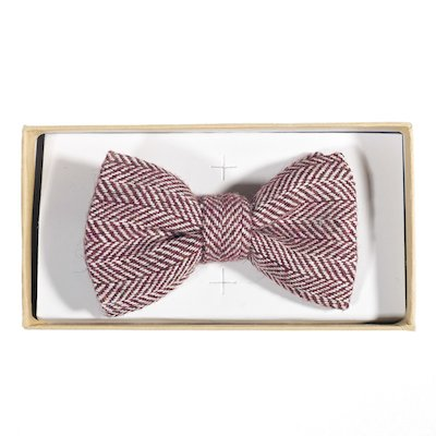 Irish Rosewood Herringbone Bow - Red