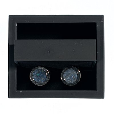 Blue  Tweed Yeats Cufflink