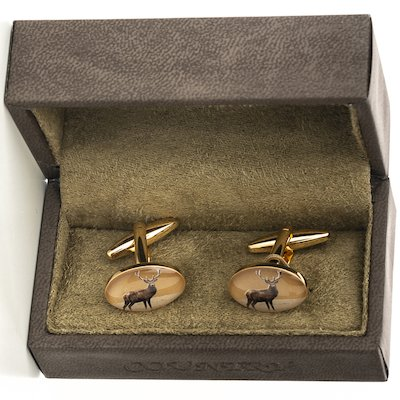 Stag Cufflinks - Gold