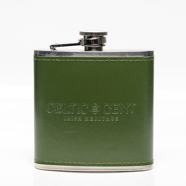 Green Hip Flask