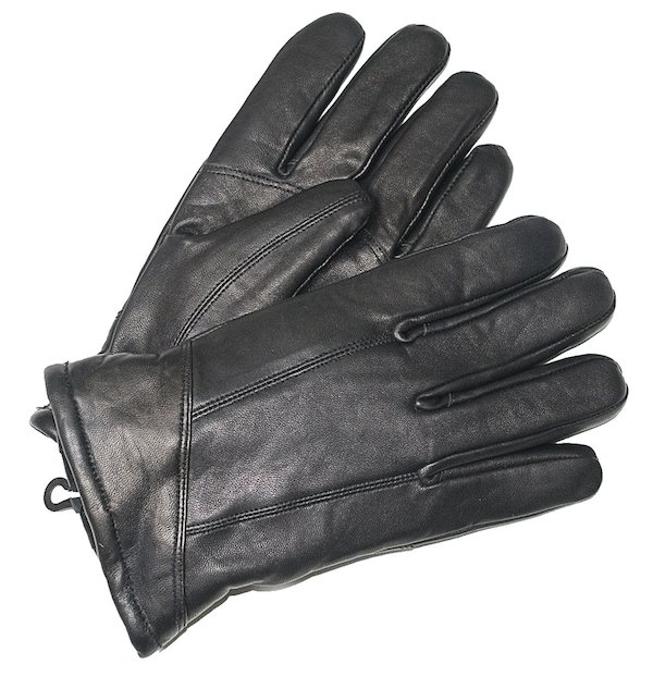 Black Sheepskin Nappa Leather Gloves - Black