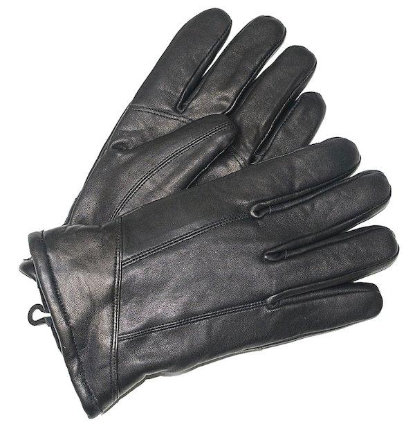Schwarze Schafsleder Handschuhe aus Nappaleder
