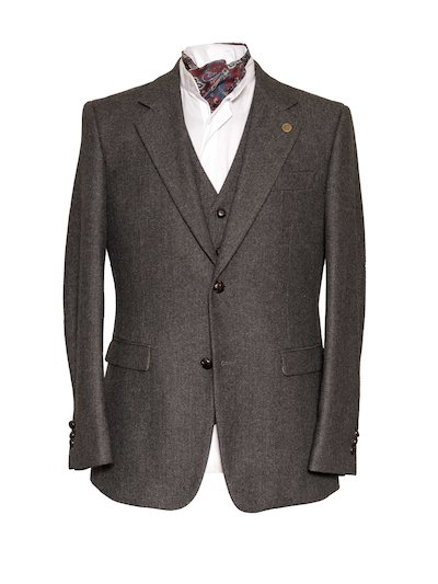 Heaney Grey Slim Fit Jacket