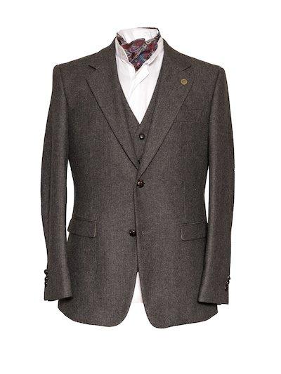 Heaney Grey Slim Fit Jacket