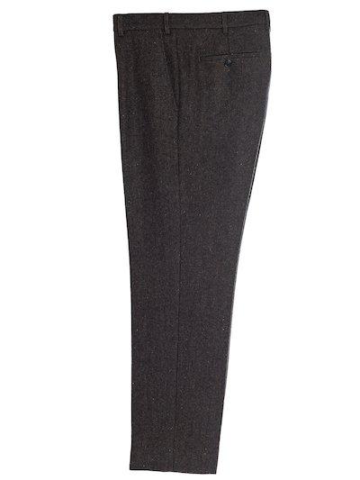 Brown Tweed Trousers - Brown