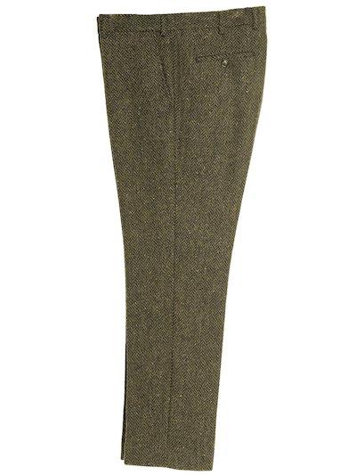 Pantalon en tweed irlandais vert