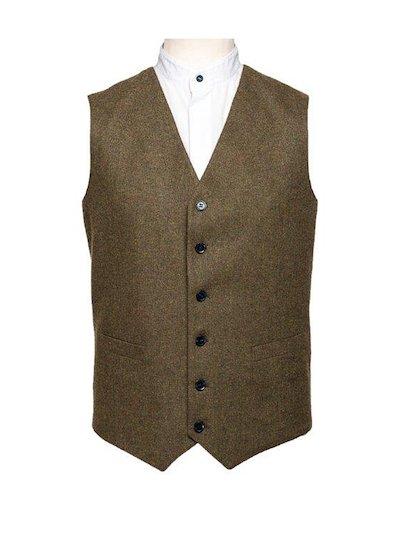 Brown Weave Waistcoat
