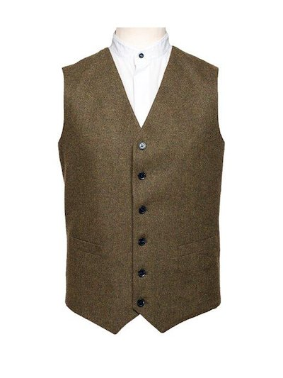 Brown Flat Weave Waistcoat