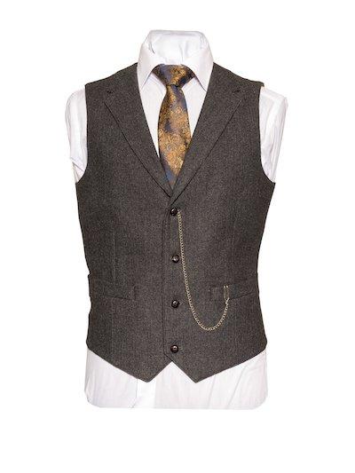 Behan Tweed Waistcoat with Revere