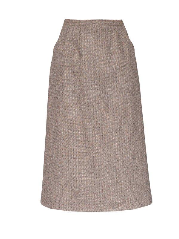 Oatmeal A-Line Skirt