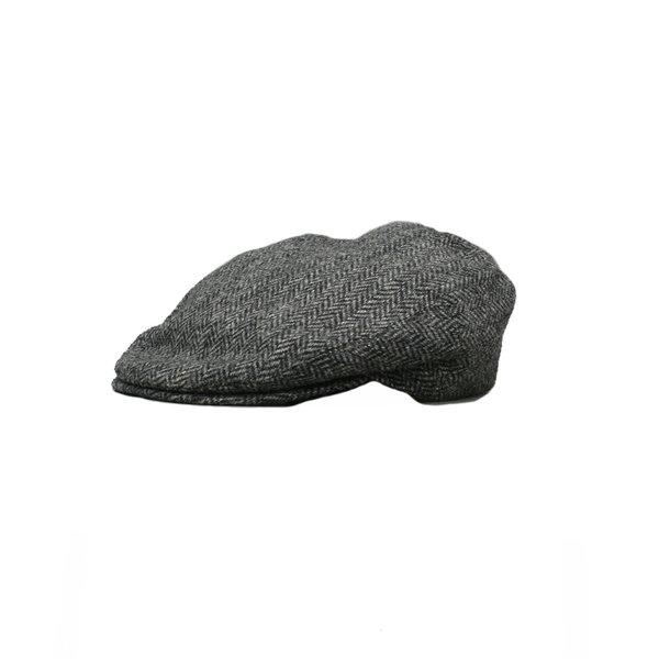 Grey Donegal Tweed Flat Cap