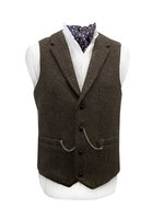 Burns Barleycorn Brown Waistcoat with Revere