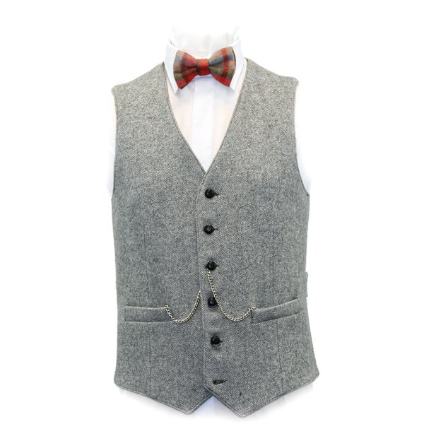 Light Grey Tweed Waistcoat - Light Grey
