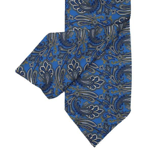 Medium  blue Cravat With Paisley Design - Medium Blue