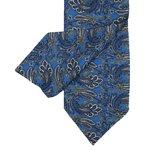 Mittelblauer Krawatte mit Paisleymuster
