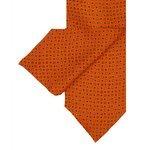Cravate en soie orange