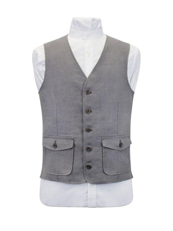 Grey Linen Waistcoat