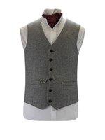 Light Grey Tweed Waistcoat