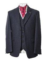 Ryan Dark Navy Classic Fit Tweed  Jacket And Blazer