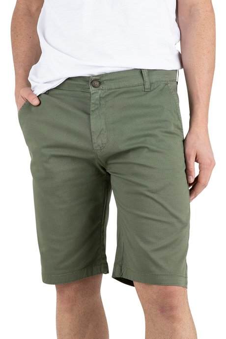 Cotton shorts with microprinting