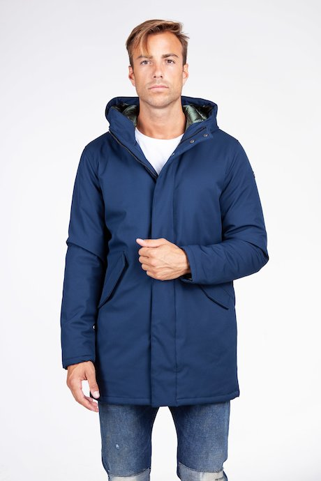 Long softshell parka