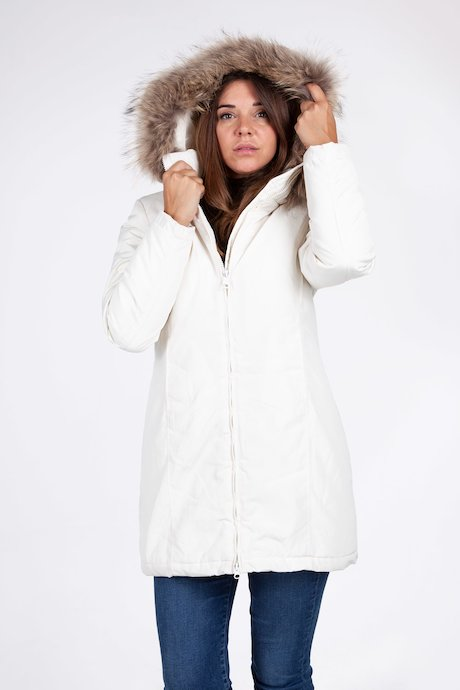 Long parka with real fur hood