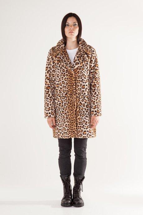 Cappotto Ecopelliccia Leopardata