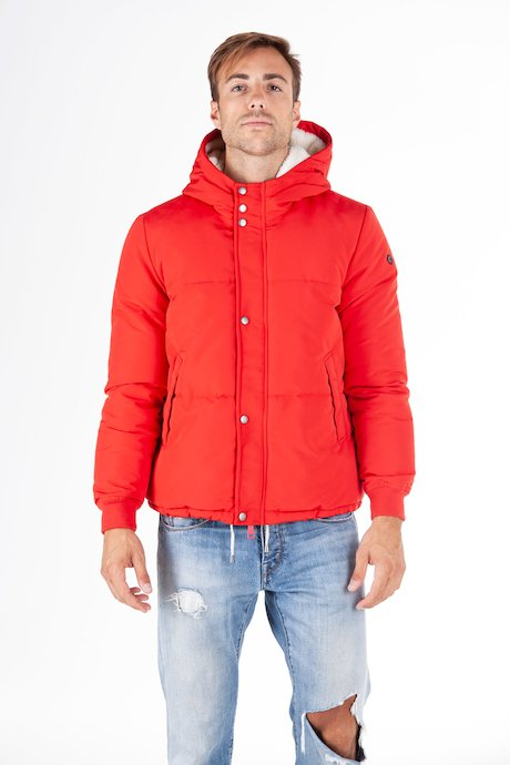 Short down jacket sherpa lining