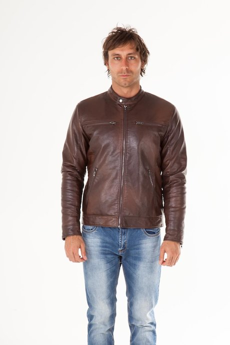 Faux Leather Jacket Grym