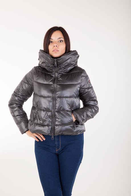 Short Down Jacket Oversize Hood