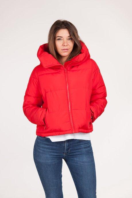 Short down jacket hood oversize