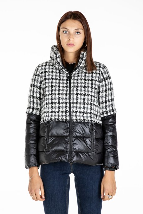 Pied de Poule down jacket