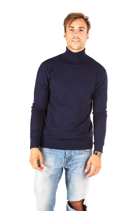 Turtleneck with elbow patches