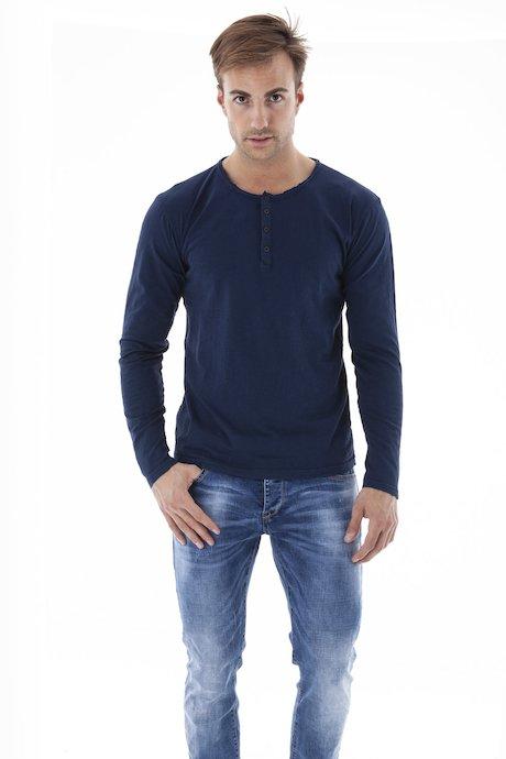 T-shirt Serafino Manica Lunga