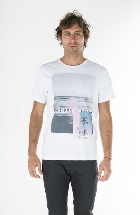 T-shirt Stampa Vintage Summer