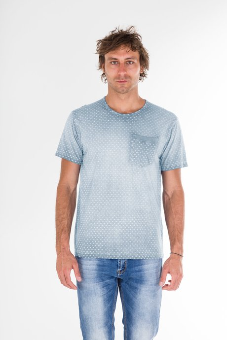 T-Shirt con Microstampa