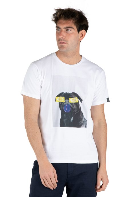 T-shirt with dog print